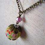 Kimono Fabric Cherry Blossom neckla..
